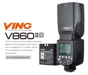 Flash Godox Ving V860IIO para Olympus