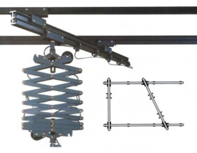 Kit de raíles y pantógrafos de 3X4.5 metros