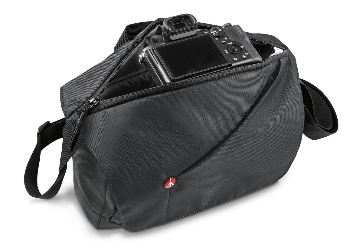 Manfrotto NX CSX messenger gris con carga superior