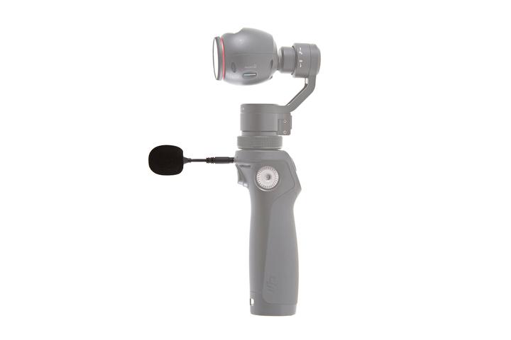 Vista lateral con el micrófono conectado