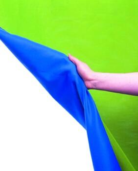 Fondo Chromakey Lastolite azul y verde de 3 x 3.5 metros lavable