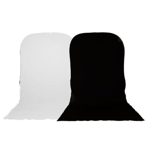 Fondo plegable Lastolite blanco/negro 1.8x2.15m con faldón para Hilite