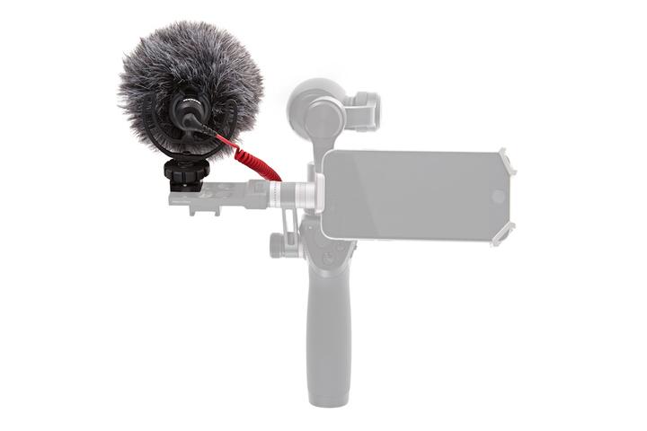 Vista trasera montaje micrófono