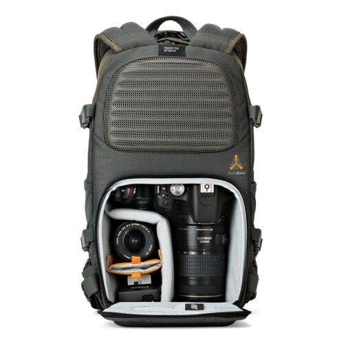 Interior zona foto Lowepro Flipside Trek BP 250 AW