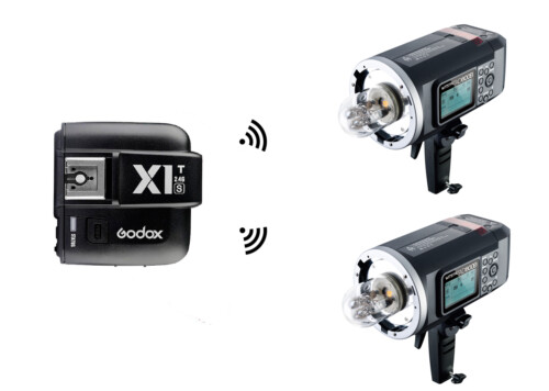 Kit 2 Godox AD600B + Godox X1T-F para Fujifilm X