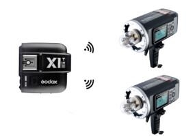 Kit 2 Godox AD600B + Godox X1T-F para Olympus/Panasonic