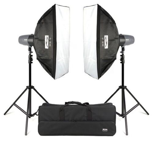 Kit flashes de estudio Metz Mecastudio BL-400 SB Kit II
