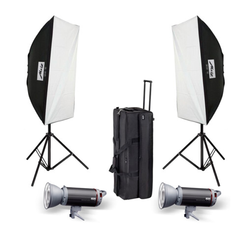 Kit flashes estudio Metz Mecastudio TL-300 SB Kit II
