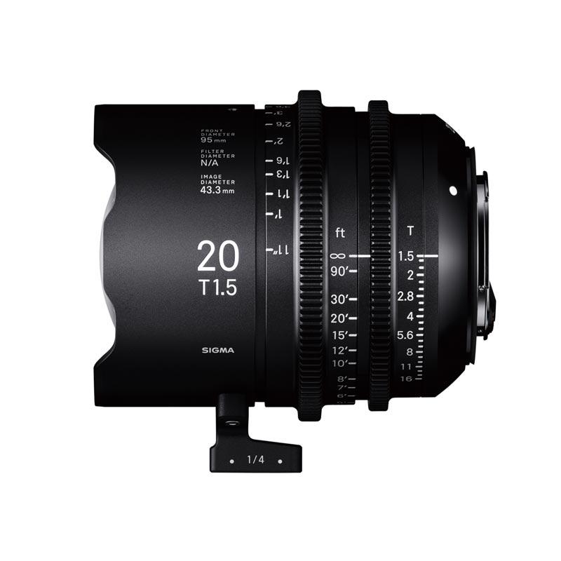 Objetivo Sigma 20mm T1.5 FF cine para Sony E Full Frame