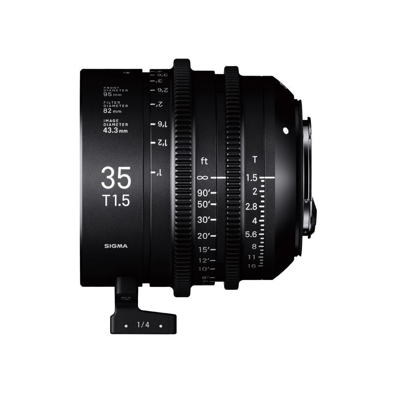 Objetivo Sigma 35mm T1.5 FF cine para Arri PL formato completo