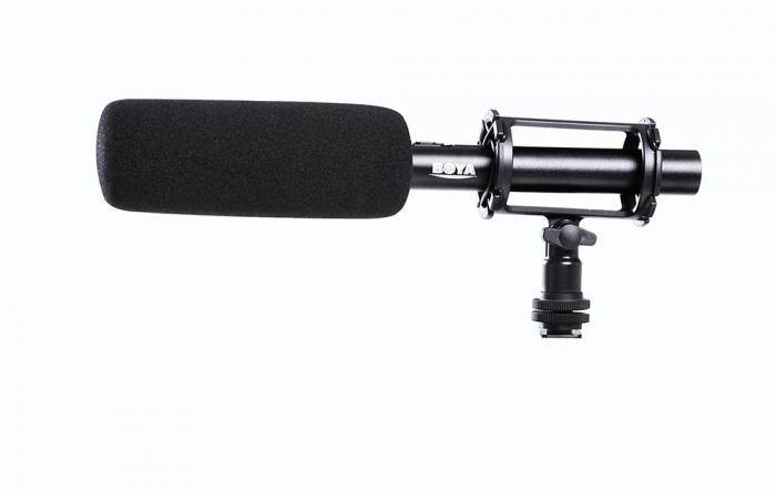 Micrófono de cañón Boya BY-PVM1000 PRO con protector anti viento