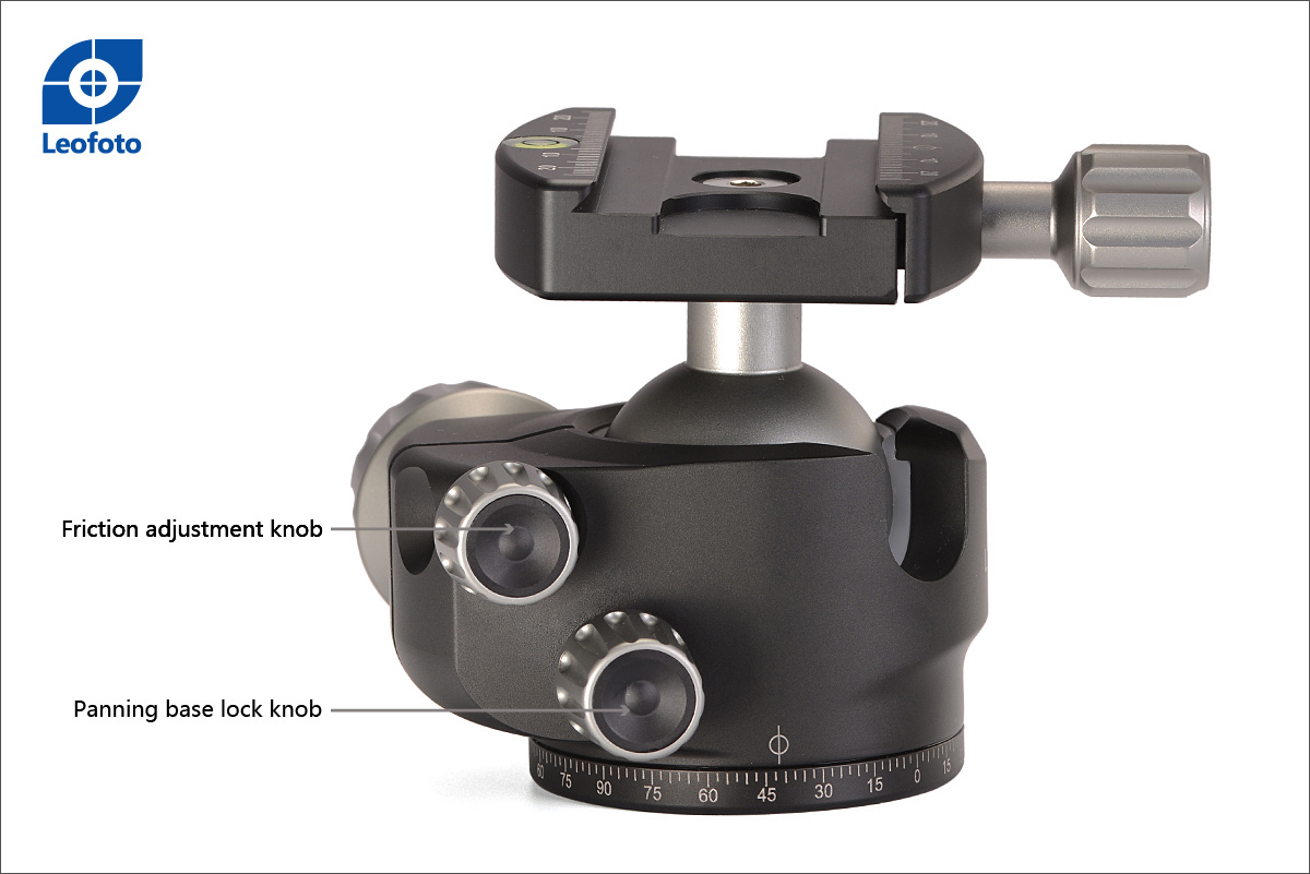 Control de fricción y control panorámico Leofoto LH-40