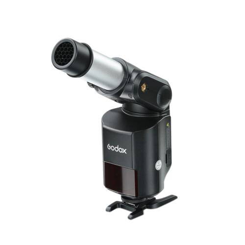 Ejemplo uso cilindro Godox AD-S9 con panal en Witstro