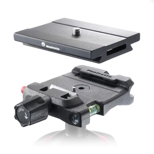 Ejemplo uso adaptador y zapata Manfrotto Q6 Top Lock - MSQ6
