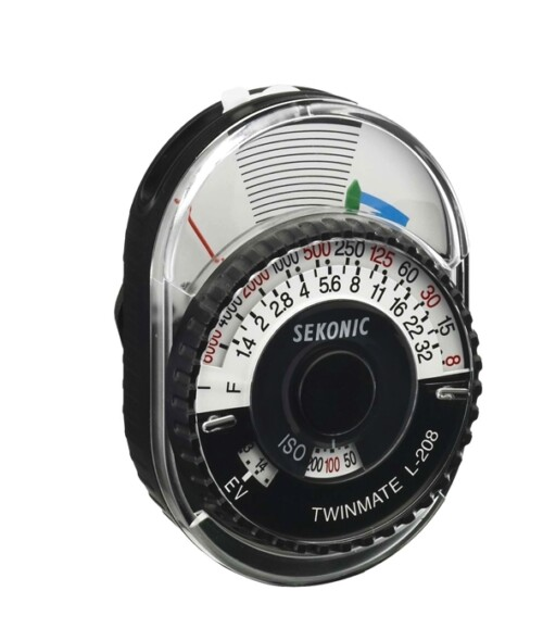 Fotómetro Sekonic L-208 Twin Mate analógico rotado