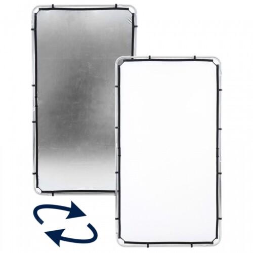 Reflector reversible doble tela plata y blanco