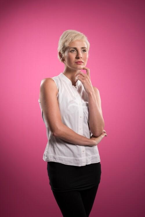Resultado fondo rosa Lastolite en retratos