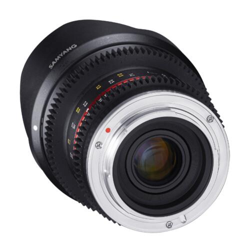 Trasera Samyang 12mm T2.2 para Canon M