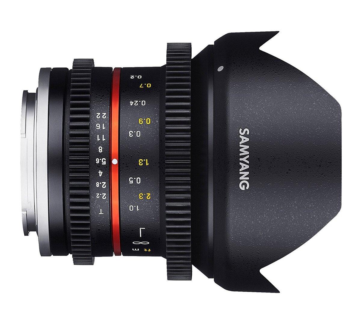Samyang 12mm T2.2 Cine NCS CS para canon M