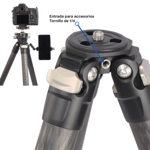 Trípode Leofoto LS-324C toma para accesorios