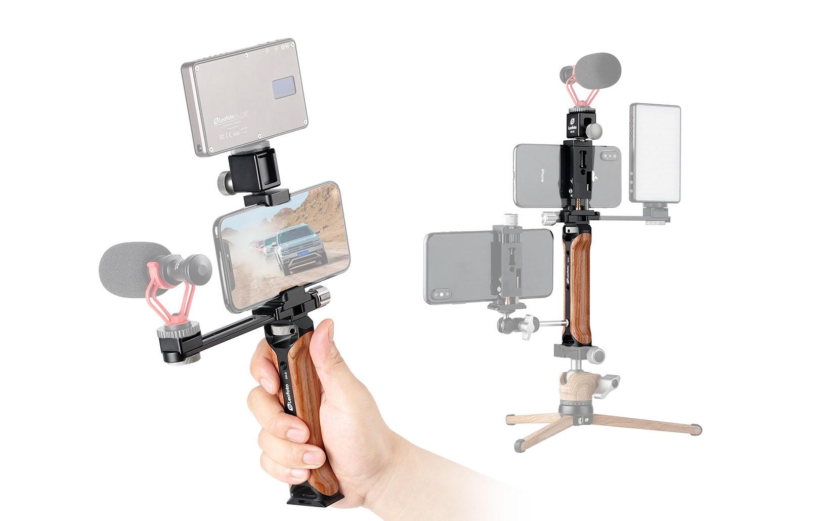 Leofoto VC-1 - soporte para grabacion con movil y accesorios