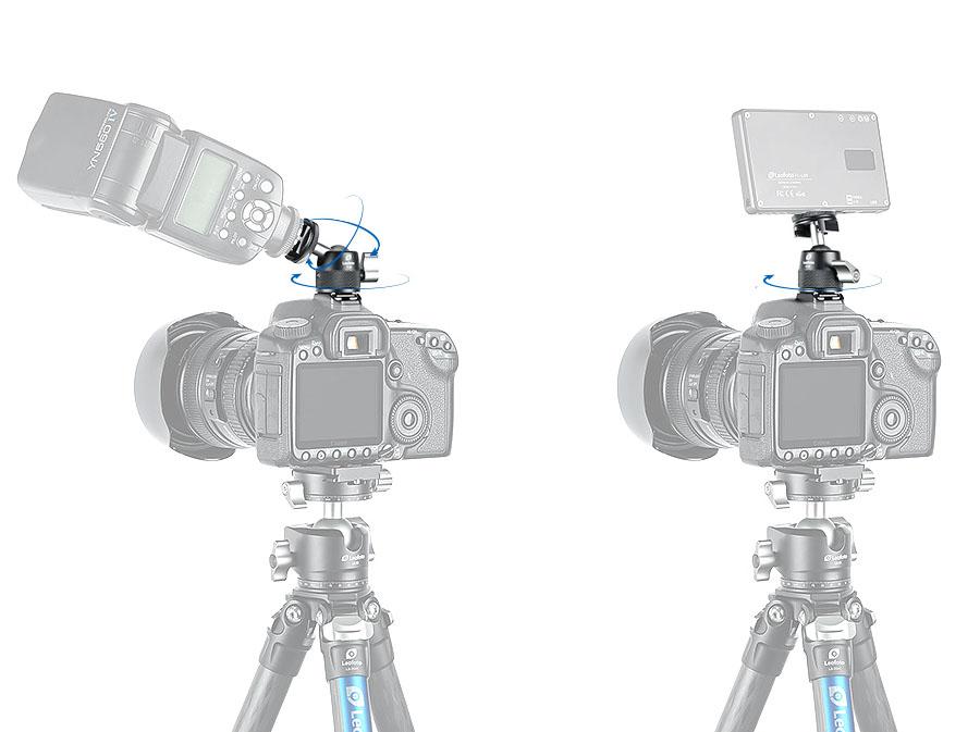 Mini rótula Leofoto L-19 para flashes, focos y accesorios