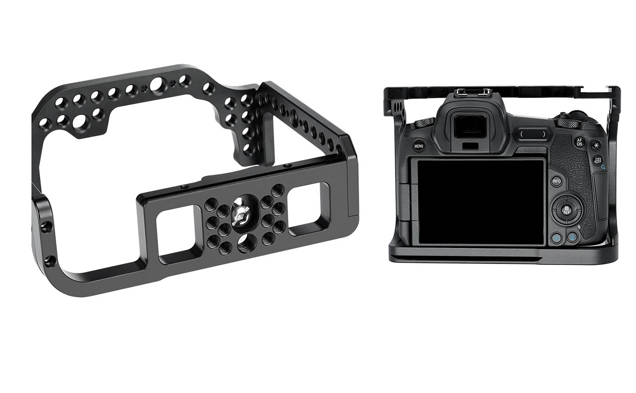 Camera Cage Leofoto EOS-R en aluminio y maquinaria CNC